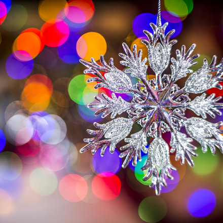 Christmas tree snowflake decoration, Canon EOS 5D MARK III, Canon EF 35-80mm f/4-5.6