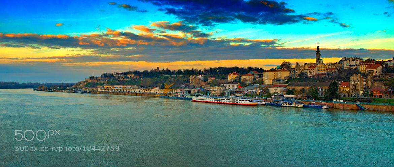 Photograph Belgrade panorama in sunset by Bojan Aleksic on 500px