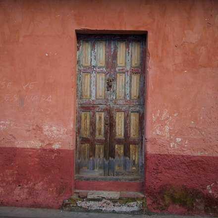 Weathered Wooden Door, Sony ILCE-6000, Tamron 18-270mm F3.5-6.3 Di II PZD
