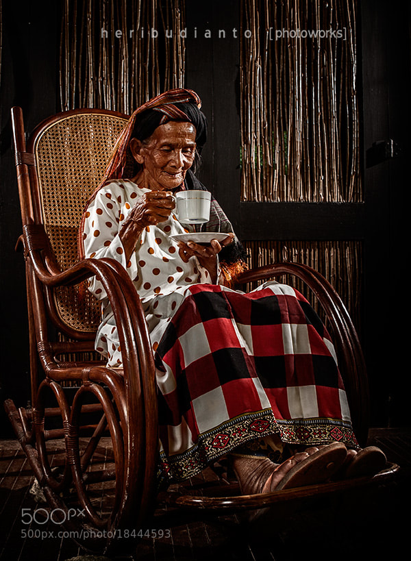 Photograph Grandma and a cup of Coffee by Heri Budianto on 500px