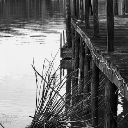 Dock Black and White, Nikon D3300, AF-S DX Nikkor 55-200mm f/4-5.6G ED VR II