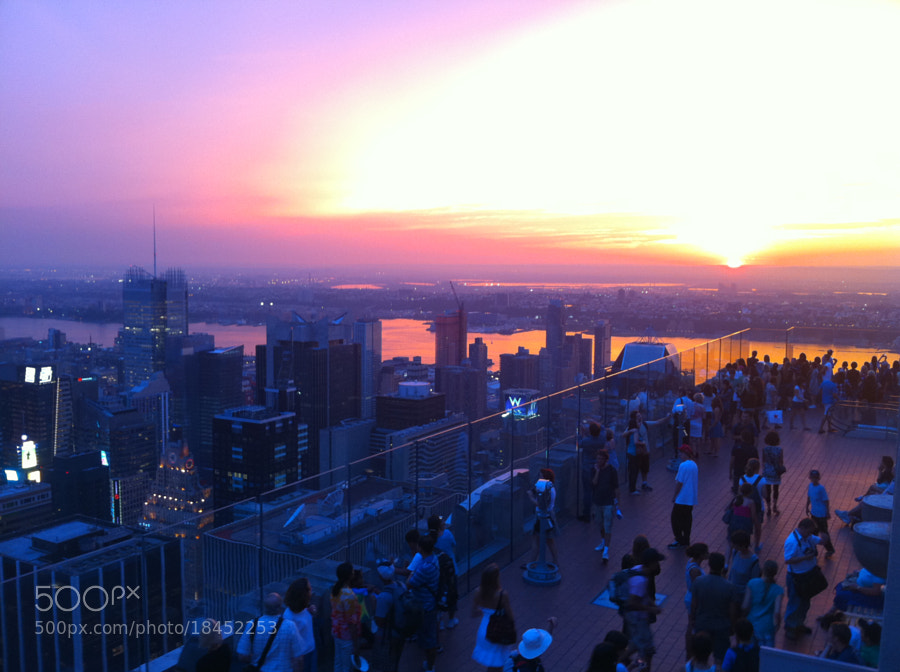 Photograph Sunset from the Top of the Rock - Rockefeller Center - NYC by Michael FRANCHITTI on 500px