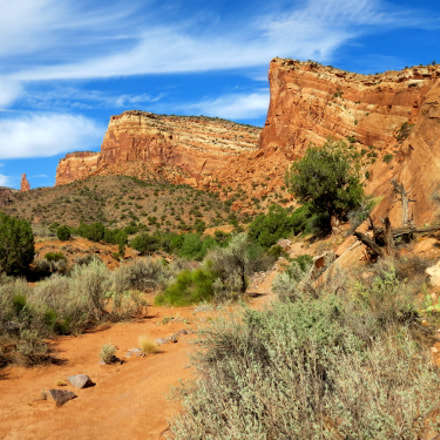 Approaching Monument Canyon, Canon POWERSHOT SX40 HS