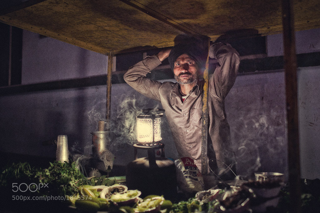 Photograph Veg. seller at night by Mikhail Panfilov on 500px