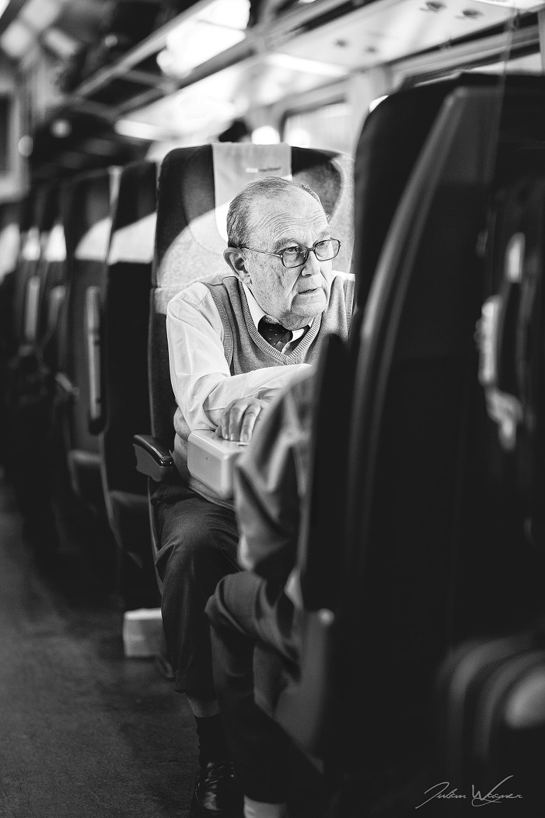 Photograph - Grandpa in a train -  by Julian Wagner on 500px