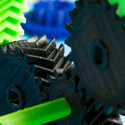 3D Printed Gears, Canon EOS 70D, Canon EF 100mm f/2.8 Macro USM
