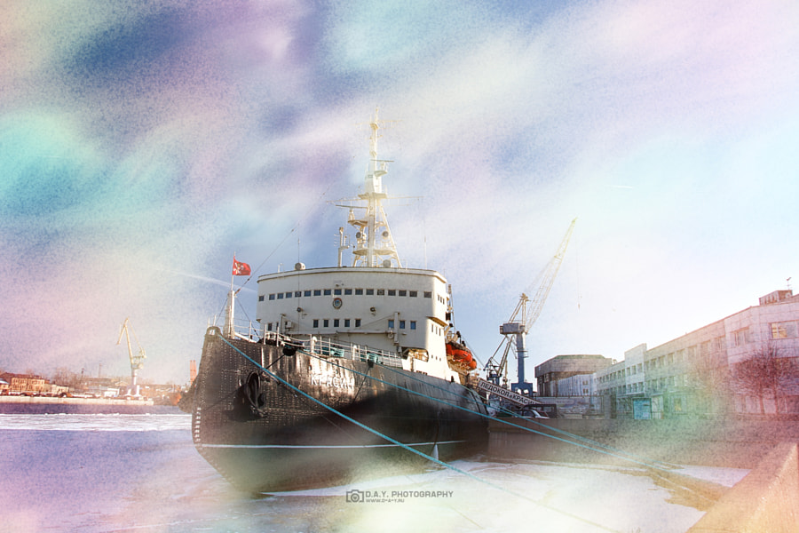Krasin icebreaker in color