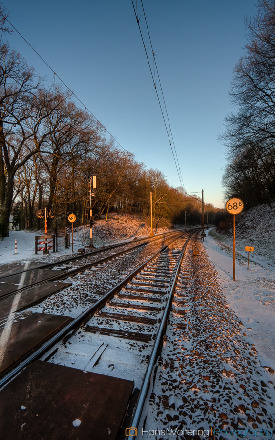 Photograph Snowy tracks by Hans Woltering on 500px