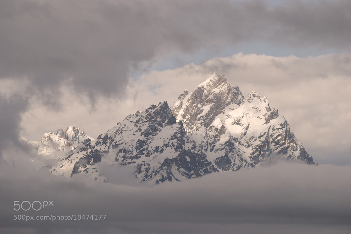 Photograph Teton in the Clouds by Mark Jones on 500px