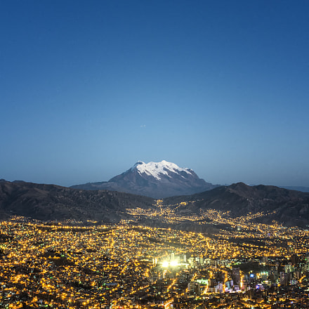 La Paz - Bolivia at night