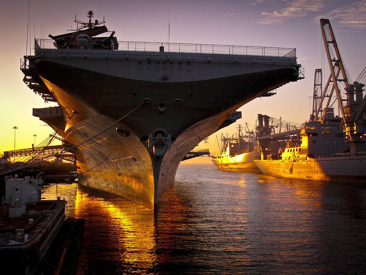 Photograph Aircraft Carrier Sunset by Kevin Perera on 500px