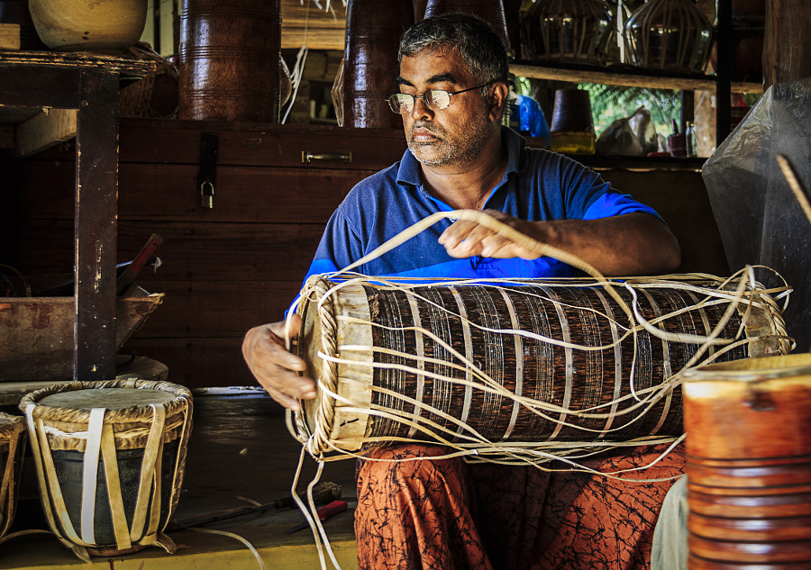 Drum Maker, Battaramulla, Sri Lanka