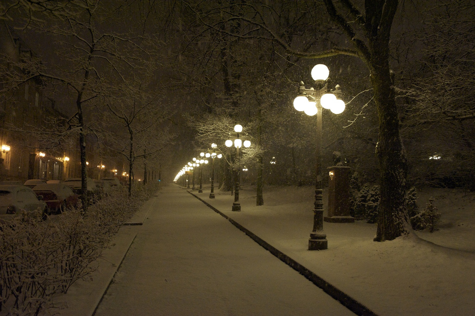 Photograph A snowy street in Québec city by Marc Dallaire on 500px