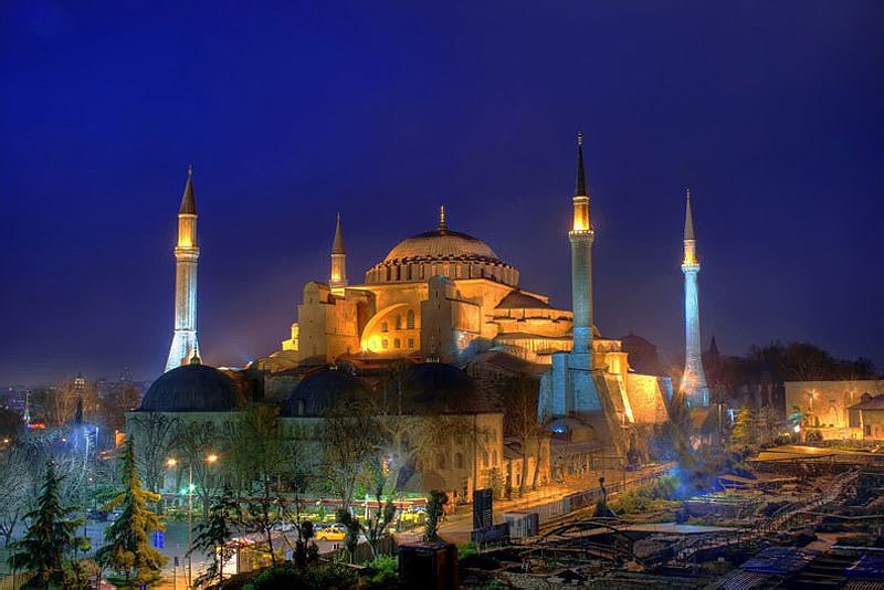 Photograph Hagia Sophia and Blue by Salih Zorbozan on 500px