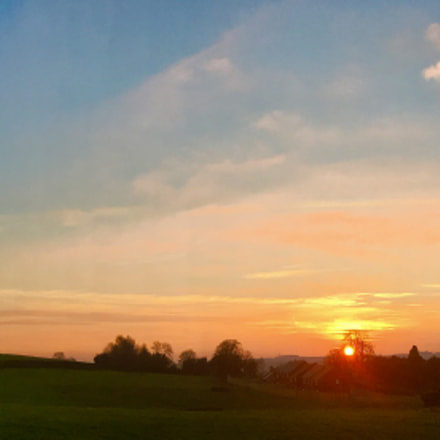 Autumn Sunset over Staffordshire