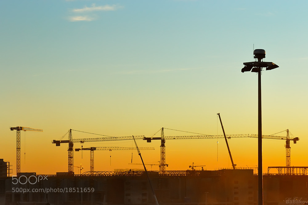 Photograph Building sunset by Michael Babakov on 500px