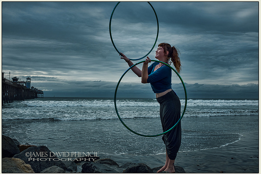 Hooping at the Pier