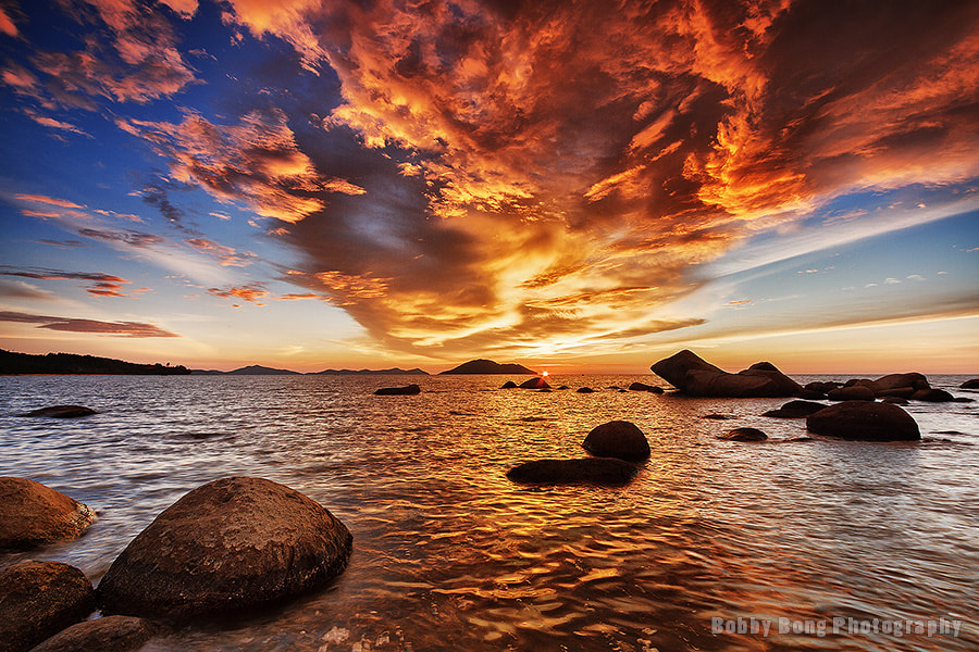 Photograph Fire Sunset by Bobby Bong on 500px