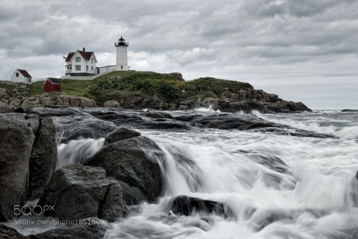 Photograph Nubble Lighthouse Slow Shutter by David Walker (19 yrs old) on 500px
