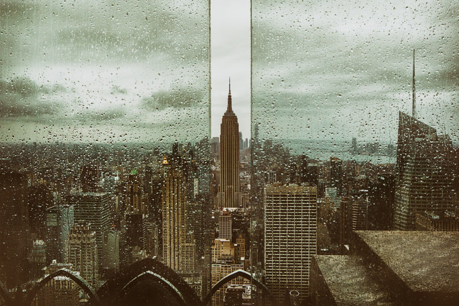 Rainy Day on the Top of the Rock