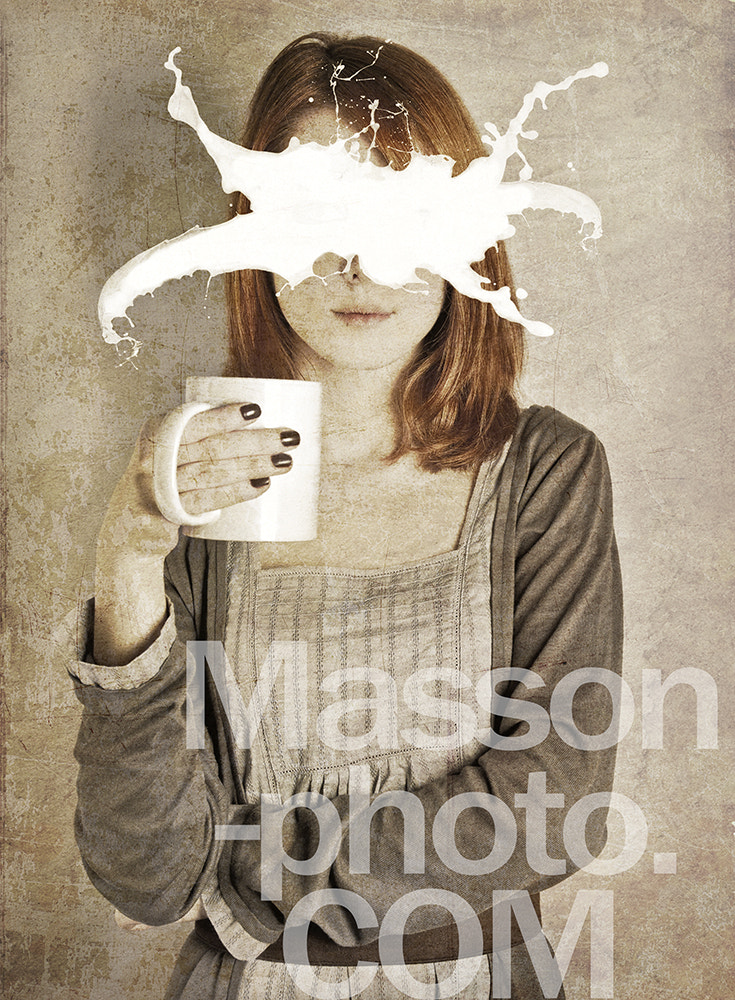 Photograph Art portrait of girl with abstract milk on face. by Vladimir Nikulin / Masson on 500px