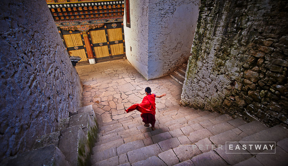 Photograph Running Monk, Paro Dzong by Peter Eastway on 500px