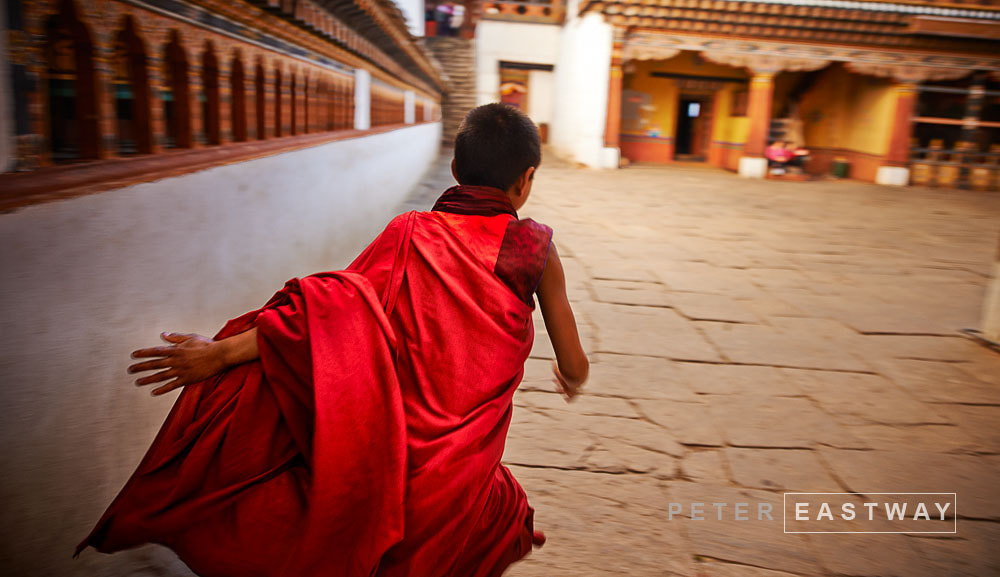 Photograph Running Monk, Paro Dzong #2 by Peter Eastway on 500px