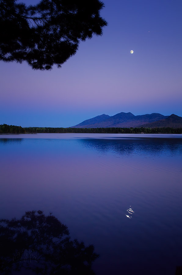Photograph Moonrise Over Flagstaff Lake, Maine by Rob Hanson on 500px