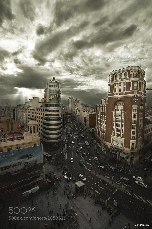 Photograph Atardecer en la Gran Via III by J.G. Damlow on 500px
