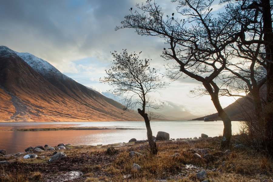 Late autumn sunset over Loch Etive.