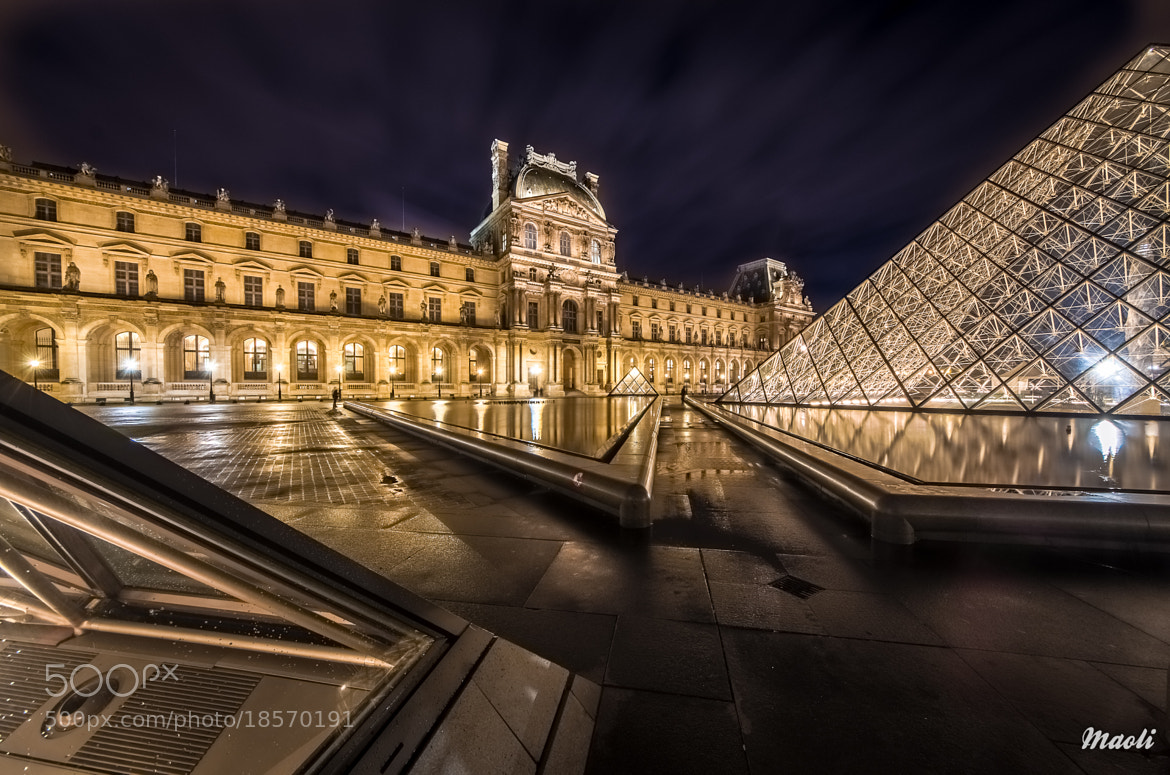 Photograph Louvre and pyramids by Matthieu Olivier on 500px