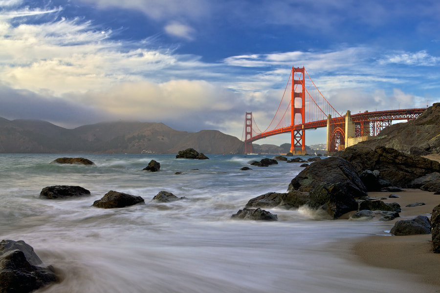 Photograph Golden Bridge by Evgeny Vasenev on 500px