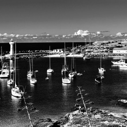 Wollongong Harbour b/w