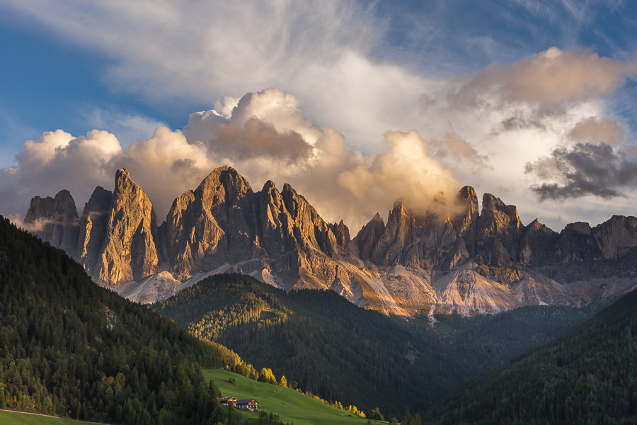 Photograph Val di Funes sunset by Hans Kruse on 500px