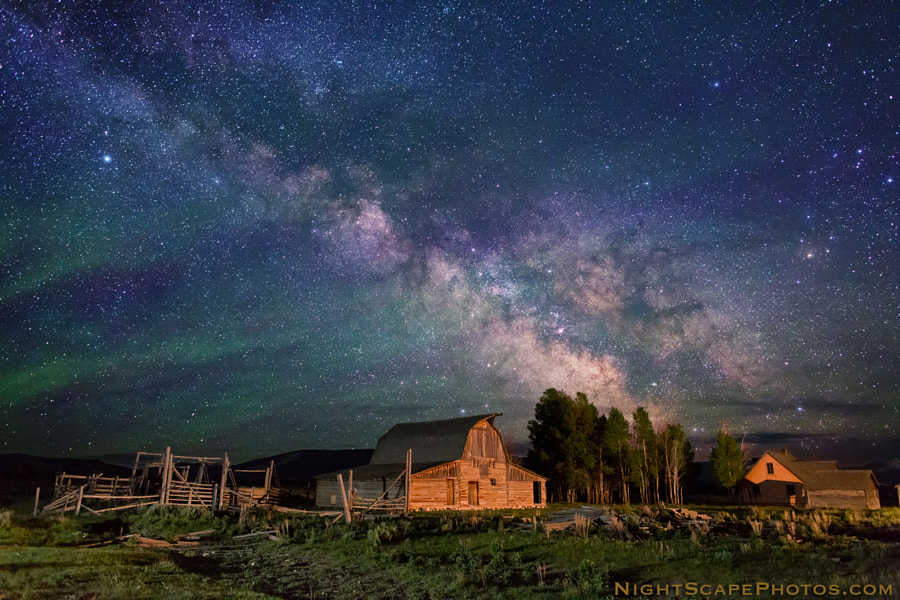 Photograph Stars over Teton homestead by Royce's NightScapes on 500px
