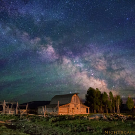 Stars over Teton homestead by Royce's NightScapes (nightscape)) on 500px.com