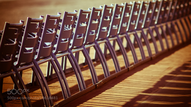 Photograph les chaises bleues by Eric Vermeil on 500px