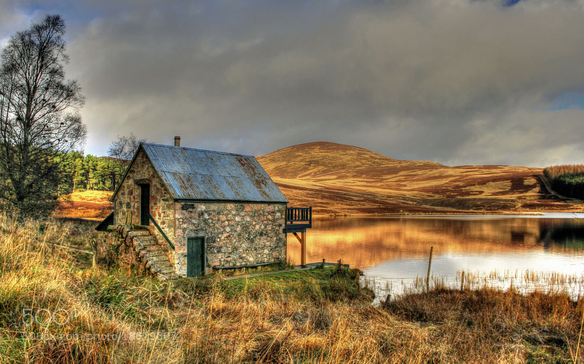 Photograph Boathouse At Loch Auchentaple by Hilda Murray on 500px
