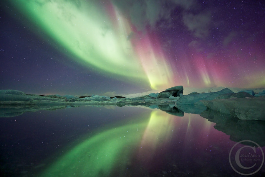 Aurora Over Lagoon by Josh Anon on 500px.com
