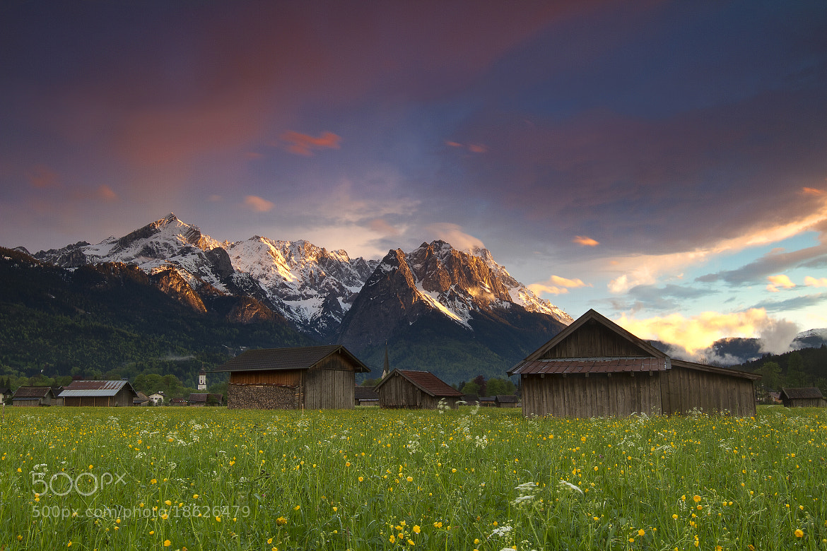 Photograph Bavarian Alps Sunset by Brad Hays on 500px