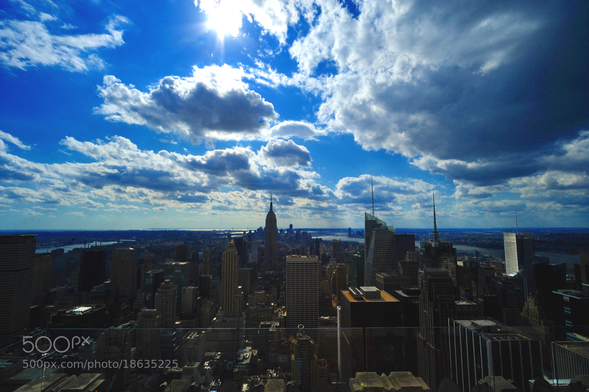 Photograph The Empire State Building & skycrapers from The Rockefeller Center by Michael FRANCHITTI on 500px