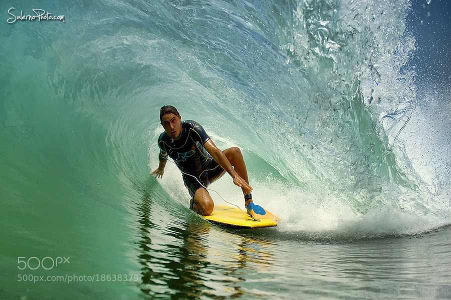 Photograph Bodyboard drop-knee barrel by Xtef Mistik on 500px