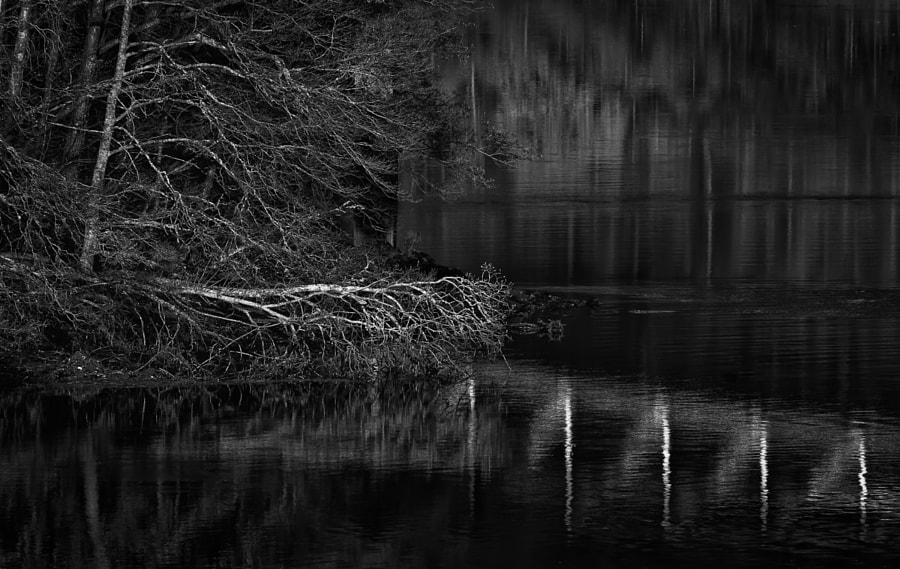 A9 bridge reflection, Loch Faskally