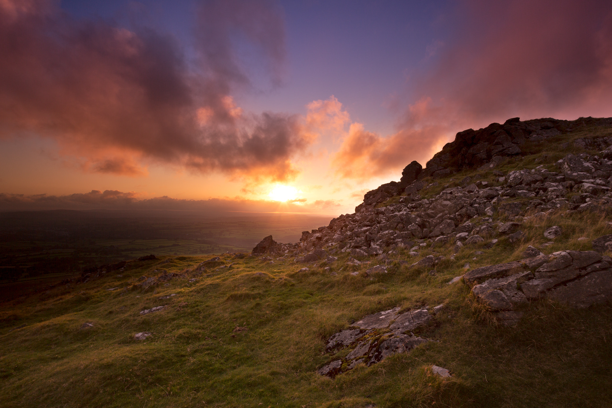 Photograph Sunset Cox Tor by Anna Curnow on 500px
