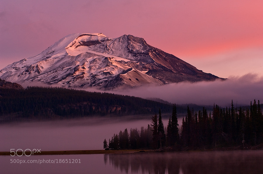 Photograph South Sister from Sparks Lake by Rick Lundh on 500px