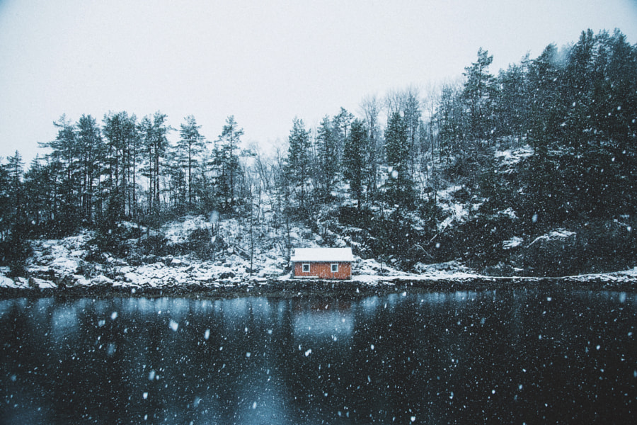 Winter cabin. by Johannes Hulsch on 500px.com