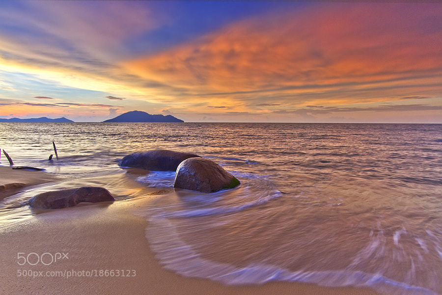 Photograph wash of the waves by Erwin Julian Lie on 500px