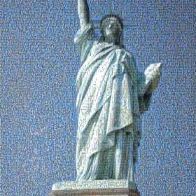 Statue of Liberty - NYC, 2014 (photomosaic)