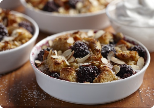 Photograph Driscoll's® Blackberry Almond Bread Pudding by Driscoll's Berries on 500px