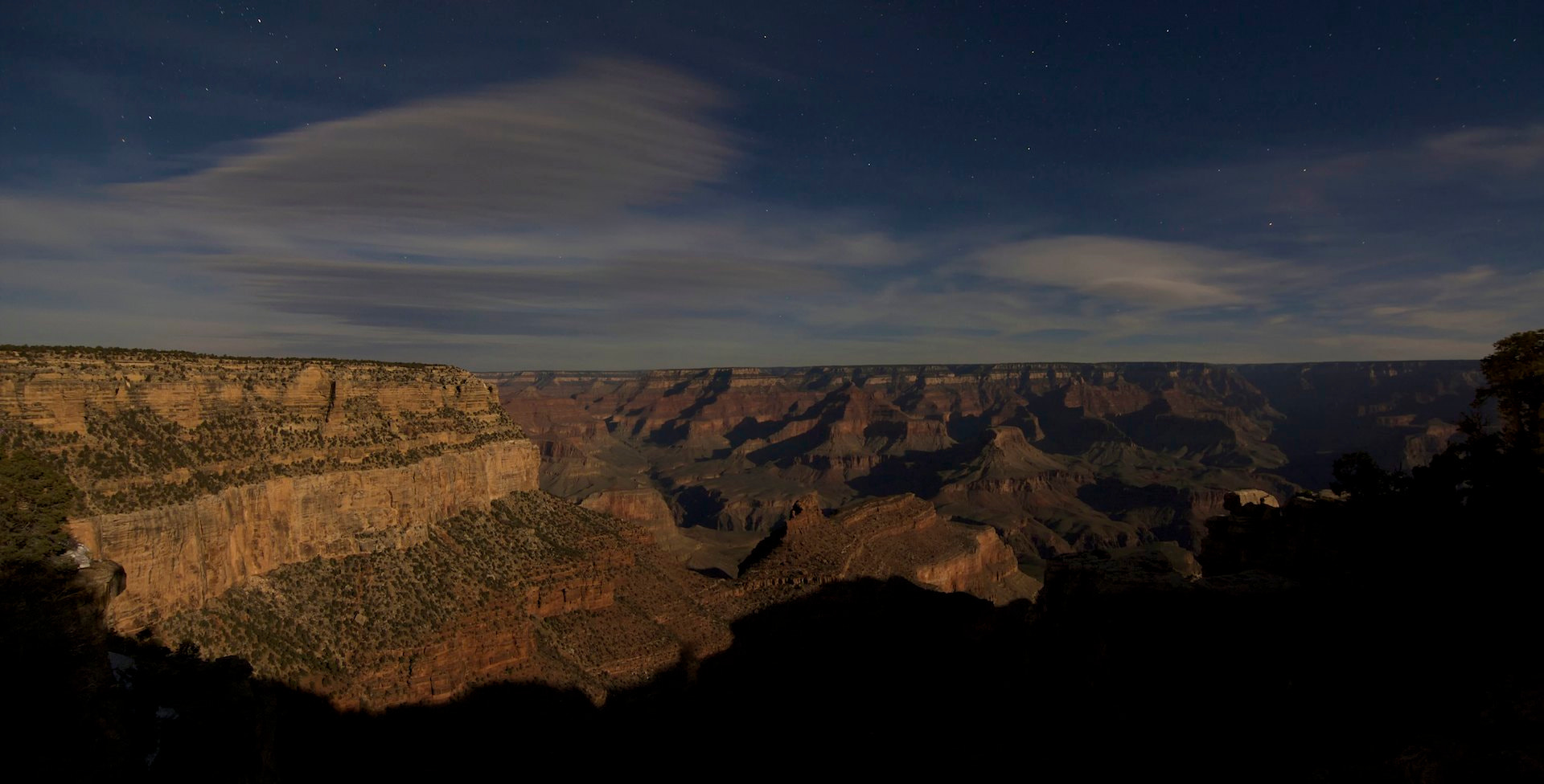 Photograph Nighttime from the Grand Canyon Village - Pano by Ron Kaplan on 500px